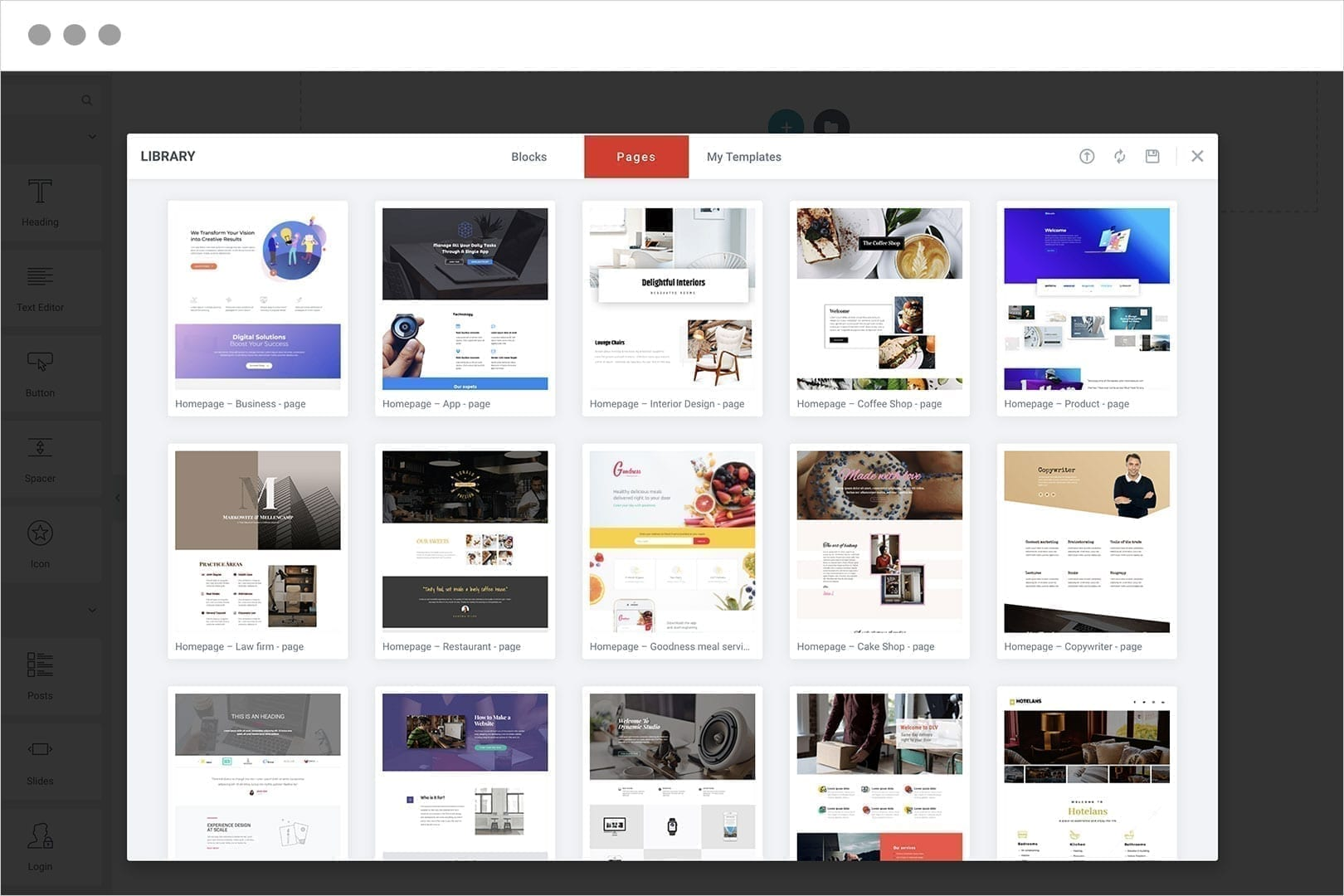 Load Professionally Design Templates or Create your own
