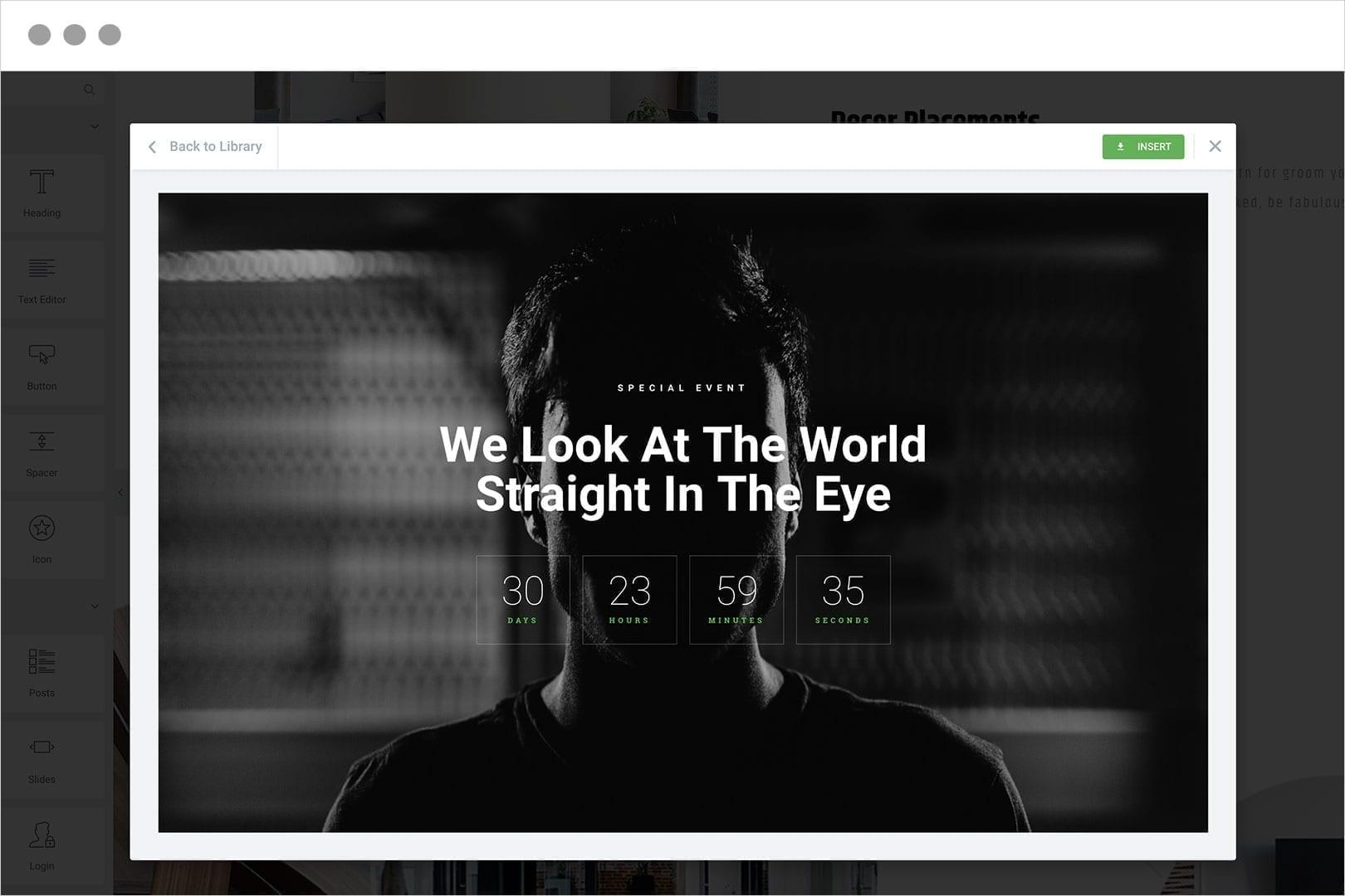 Use Bloques para agregar secciones al diseño de la página de su sitio web.