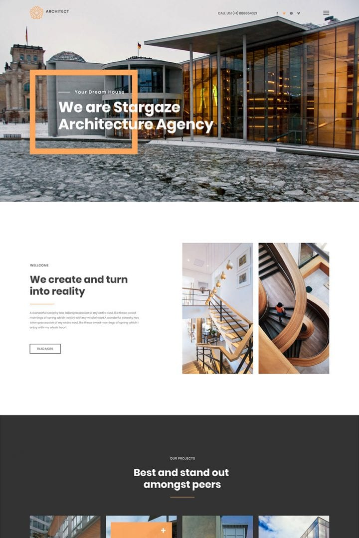 Construction Business Website Design - bizProWeb - Website Builder