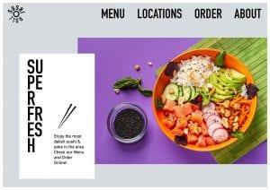 Diseño de sitios web de restaurantes con bizProWeb - Creador de sitios web para empresas