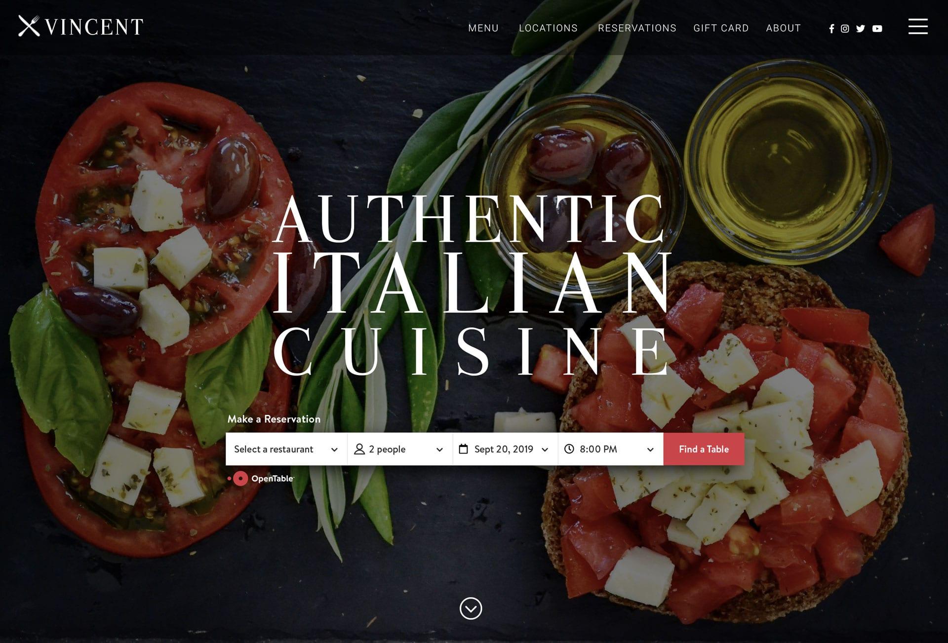 Acepte reservas con la integración de Open Table - bizProWeb - Diseñador de sitios web de restaurantes