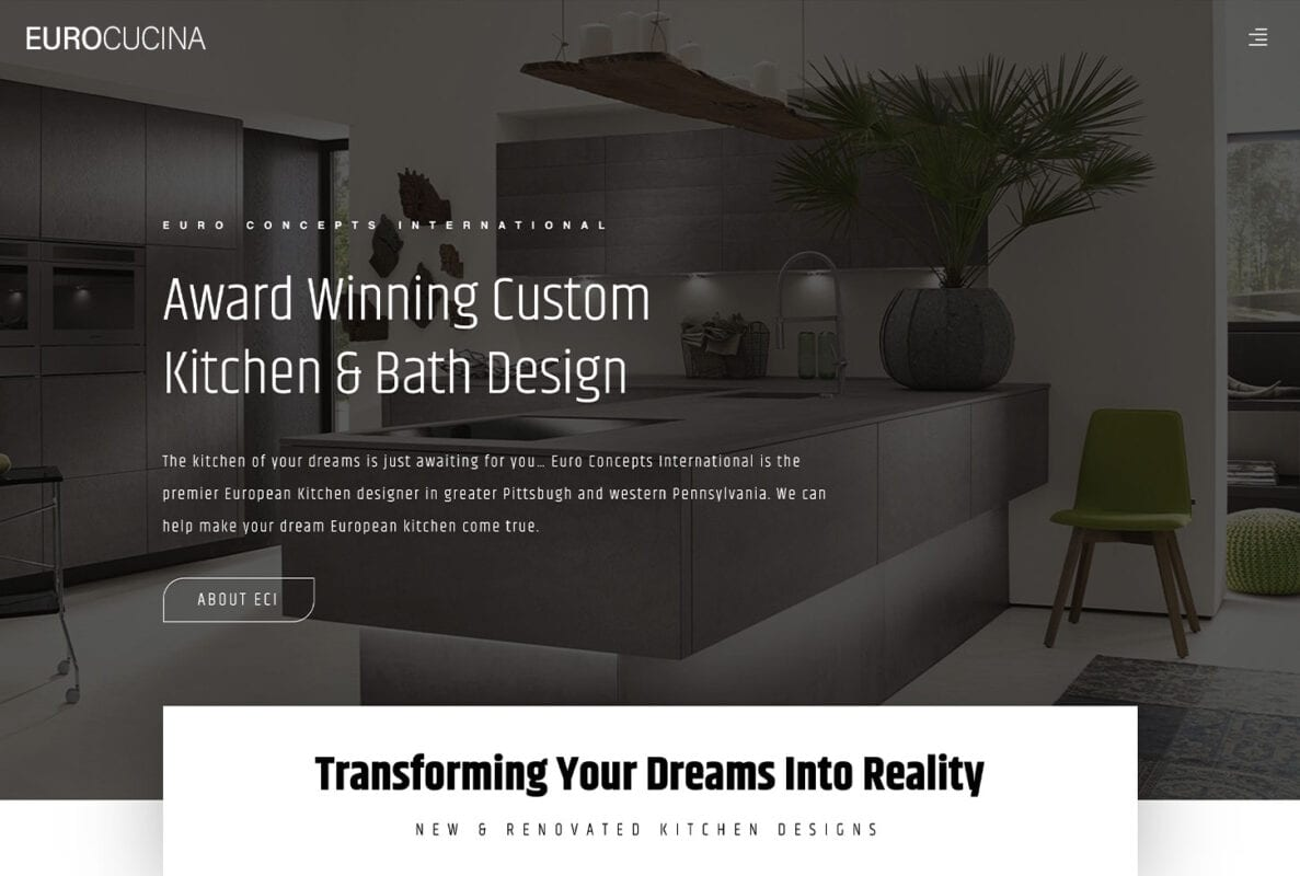 Kitchen Remodeling and European Design Template | bizProWeb Website Builder | Miami