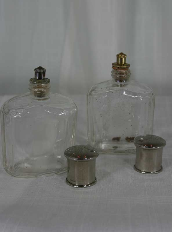 two-glass-bottles-top-view