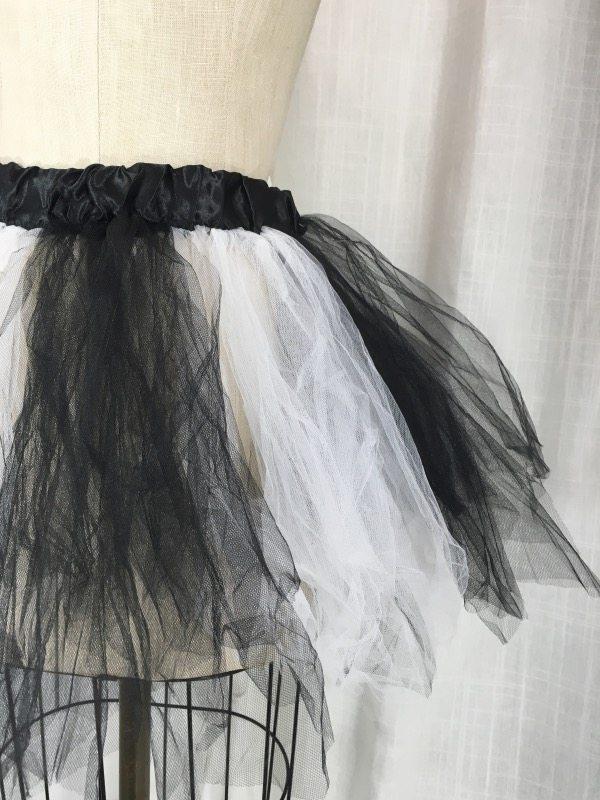 la boudoir miami white & black tulle petticoat (2)