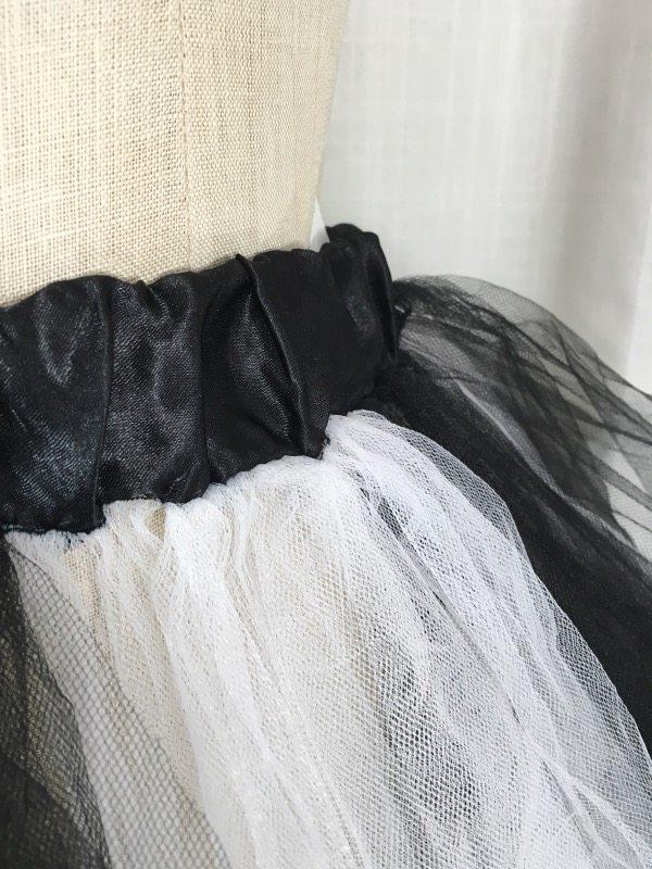 la boudoir miami white & black tulle petticoat (3)