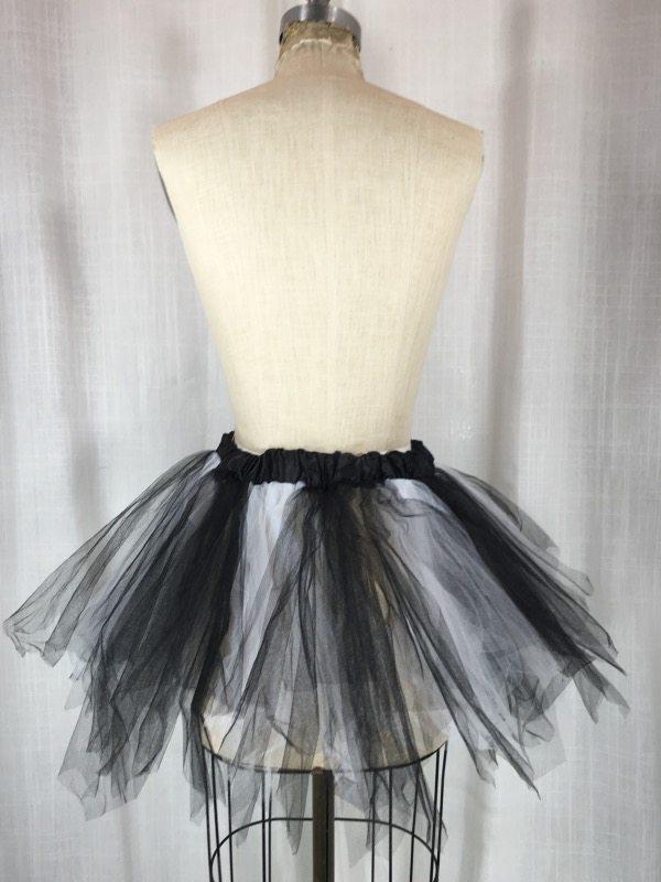 la boudoir miami white & black tulle petticoat (4)