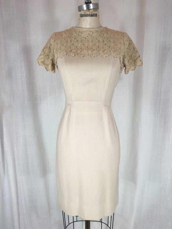 la boudoir miami 50's linen lace dress (4)