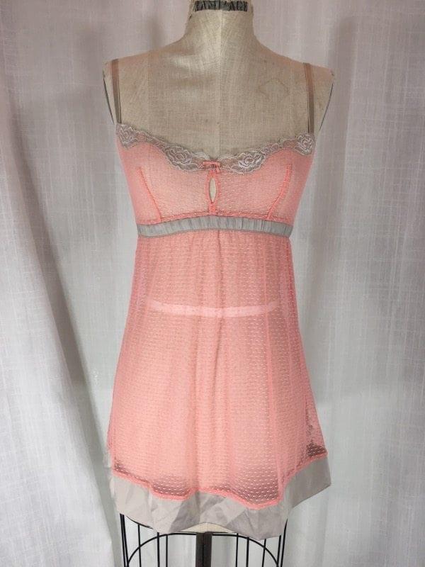 la boudoir peach nightgown (2)