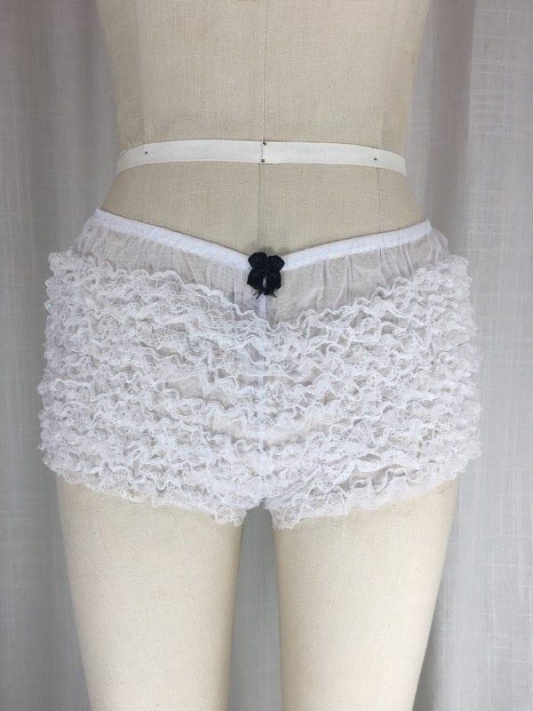 la boudoir miami white 1950s ruffle panty (2)