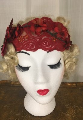 la boudoir miami red lace 1920's headpiece by lauren arkin miami (2)