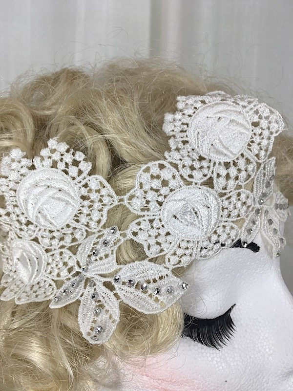 la boudoir miami white lace 1920s headpiece (1)