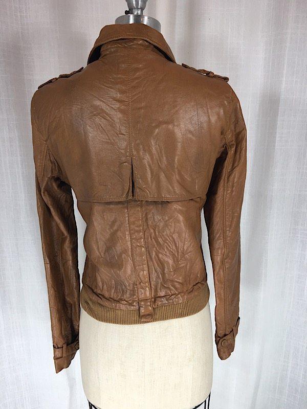 la boudoir miami brown faux leather jacket (2)