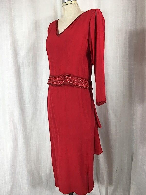 la-boudoir-miami-1980s-red-beaded-ruffle-dress-3