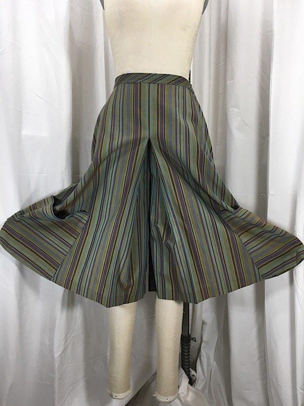 la-boudoir-miami-1970s-olive-green-stripe-culot-shorts-2