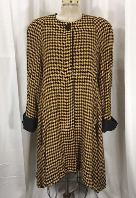 la-boudoir-miami-1980s-yellow-and-black-houndstooth-swing-coat-2