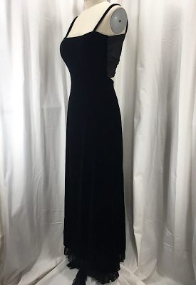 la-boudoir-miami-1990s-black-velvet-evening-dress-with-chiffon-draping-2