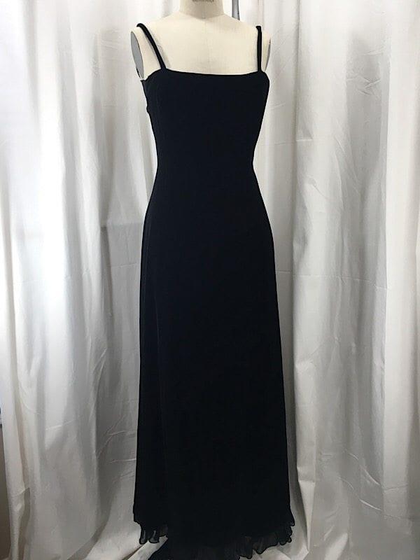 la-boudoir-miami-1990s-black-velvet-evening-dress-with-chiffon-draping-2