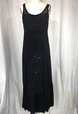 la boudoir miami 1920s black beaded art deco sue wong evening dress (11)