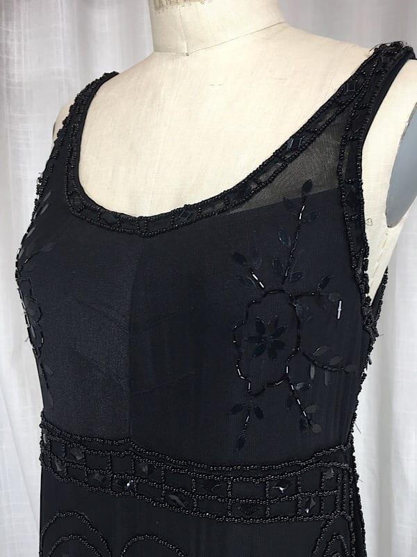 la boudoir miami 1920s black beaded art deco sue wong evening dress (11)