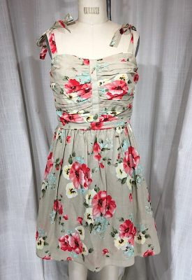 la boudoir miami vintage inspired miss sixty flower print a-line dress (1)