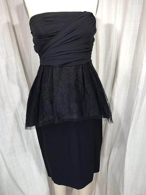 la boudoir miami couture max mara 1950s style peplum lace cocktail dress (1)