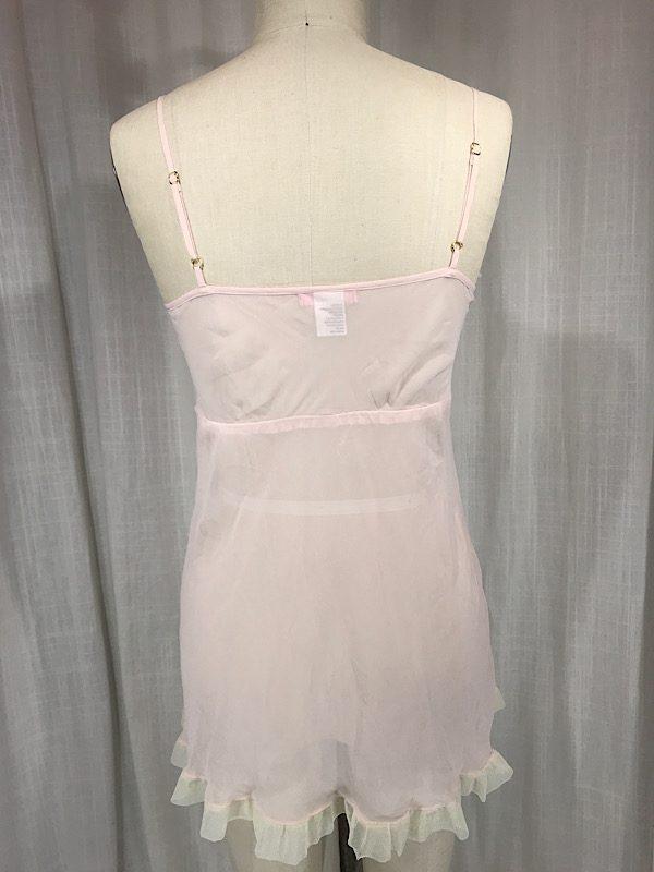 la boudoir miami vintage 1920s blush pink sheer nightgown (5)