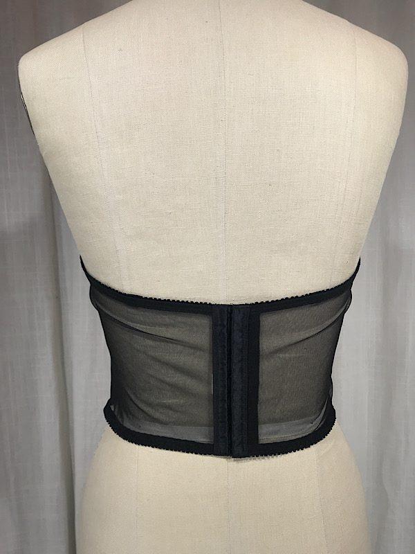 la boudoir miami vintage 1990s black lace bustier (4)