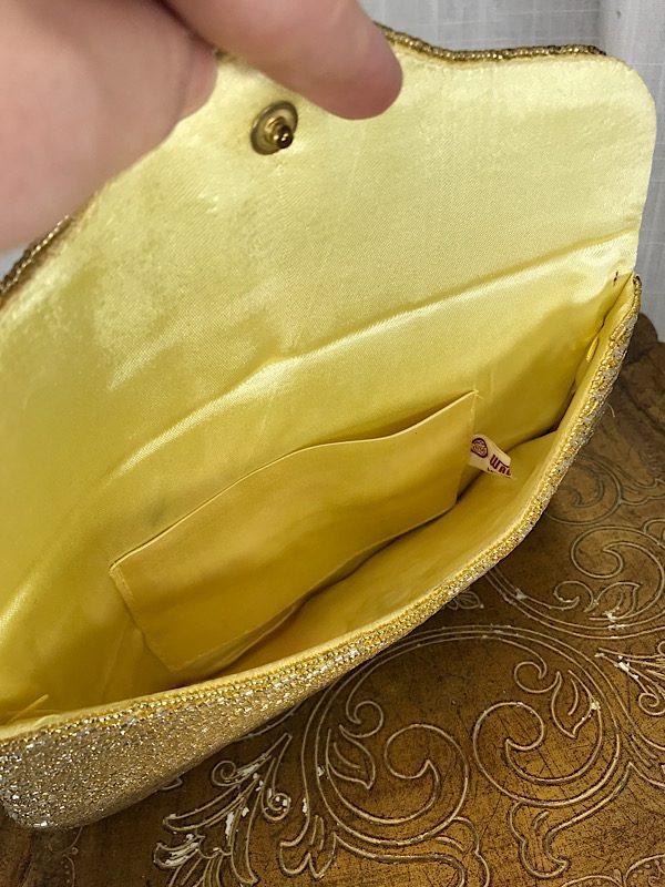 la boudoir miami vintage 50s gold and silver beaded clutch purse (1)