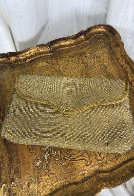 la boudoir miami vintage 50s gold and silver beaded clutch purse (2)