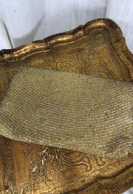 la boudoir miami vintage 50s gold and silver beaded clutch purse (3)