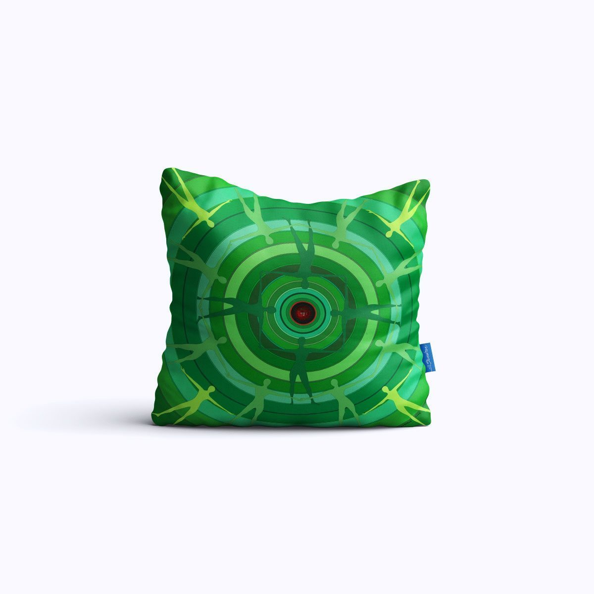 RMS021-Green Spin - Throw Pillow - Swedroe Licensing