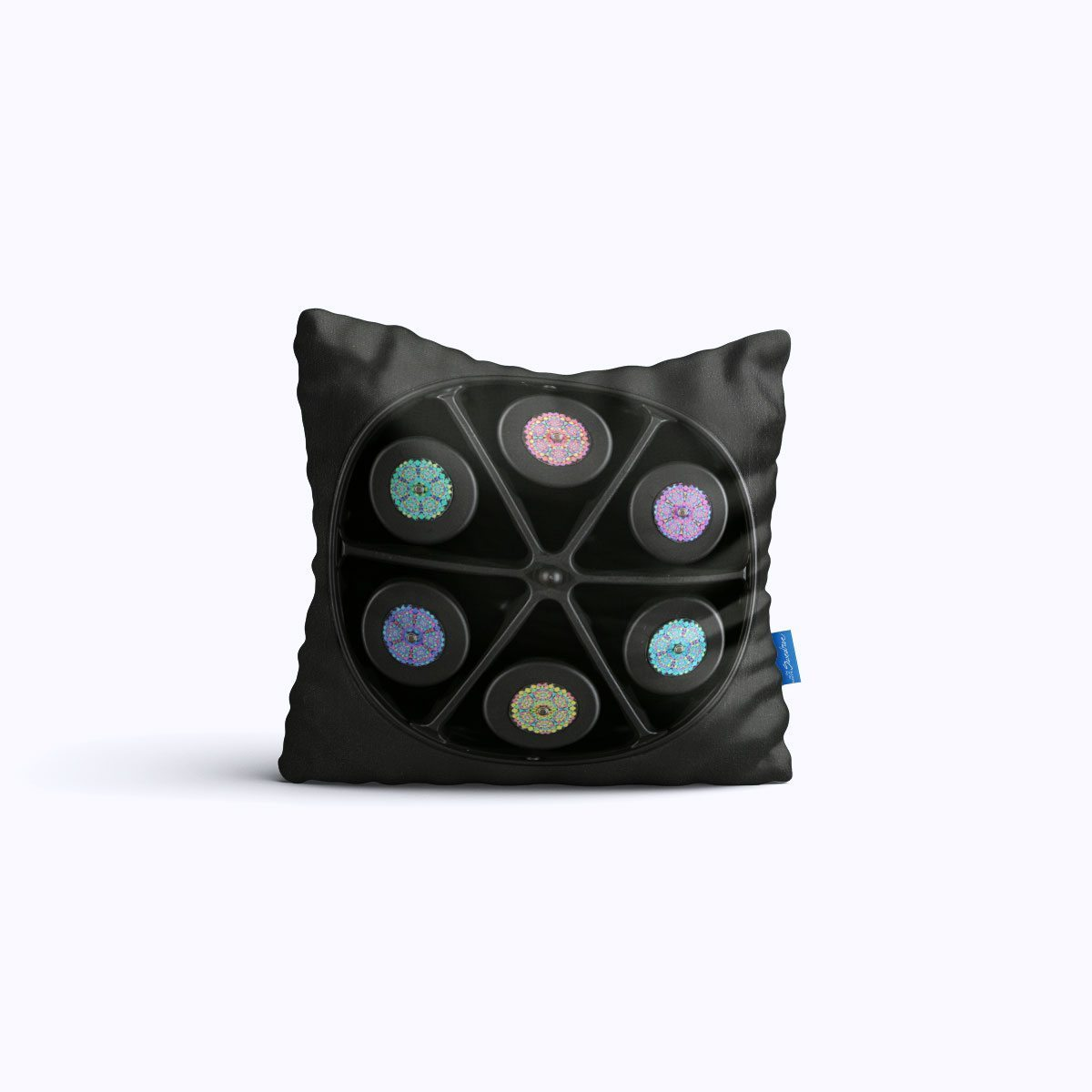 RMS409-Pin Wheel – Throw Pillow – Swedroe Licensing