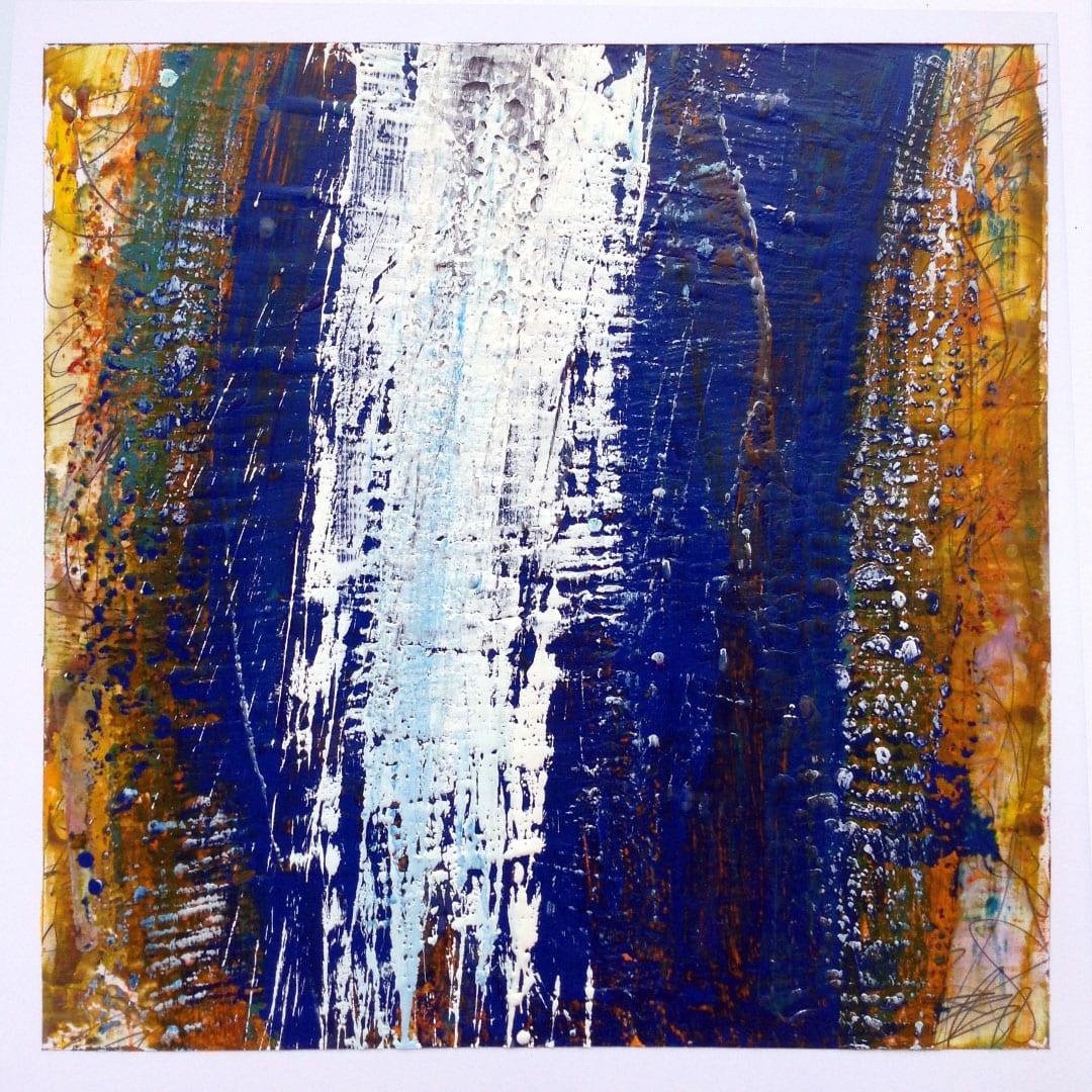 Reichenbach #11 - Encaustic Wax Art by Hal Shunk