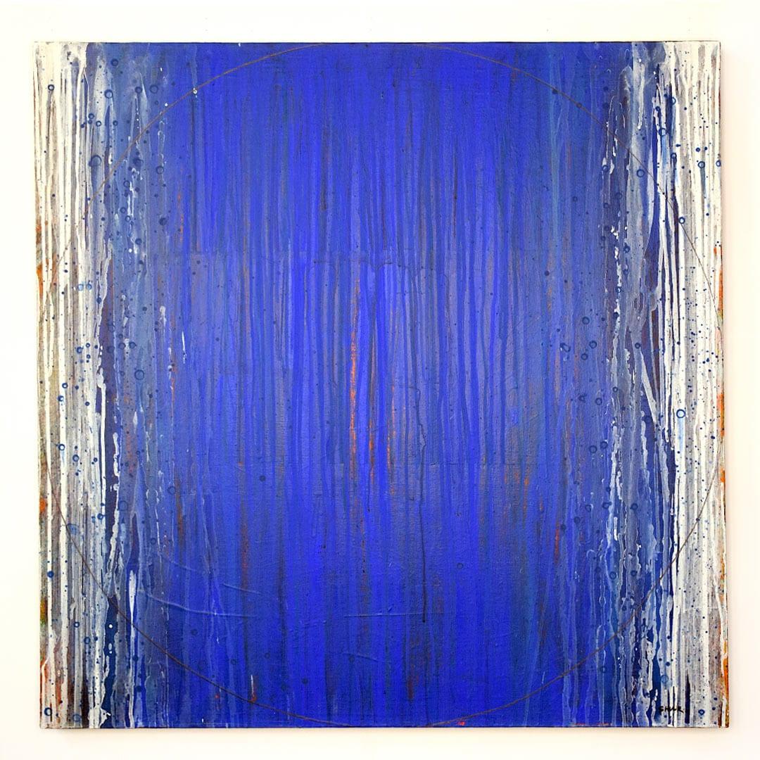shunk-Blue-Life-Rain-36×36-Acrylic-on-Canvas